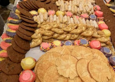 Closeup of Giant Eagle Cookie Table