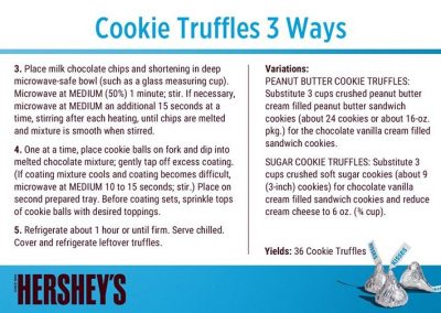 Cookie Truffles 3 ways