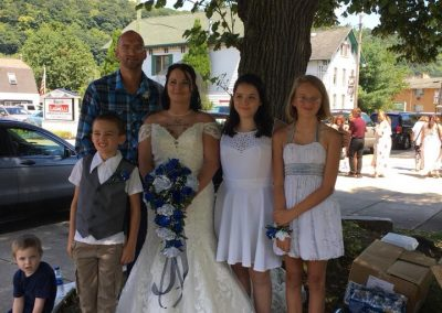 bride and family