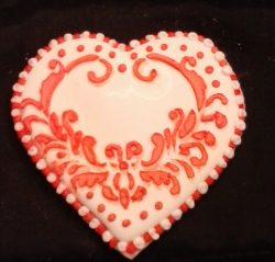 Stenciled Heart
