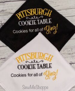 Pittsburgh Cookie Tablecloth...Cityscape outline also available.
